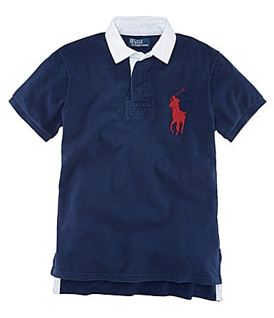 Polo Ralph Lauren Big & Tall Custom-Fit Mesh Rugby Polo Shirt