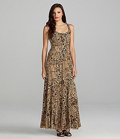 Jones New York Animal-Print Maxi Dress