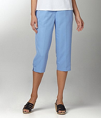 Allison Daley Mock-Fly Pull-On Capri Pants