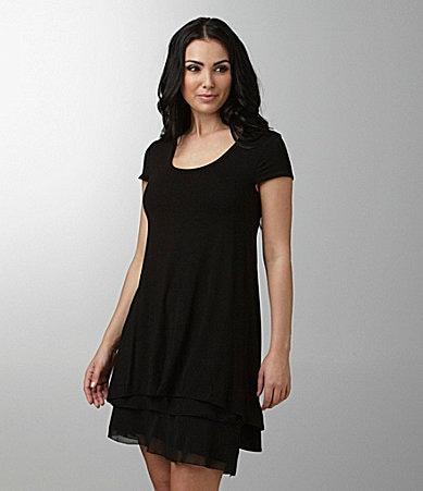 Kensie Tiered-Hem Dress