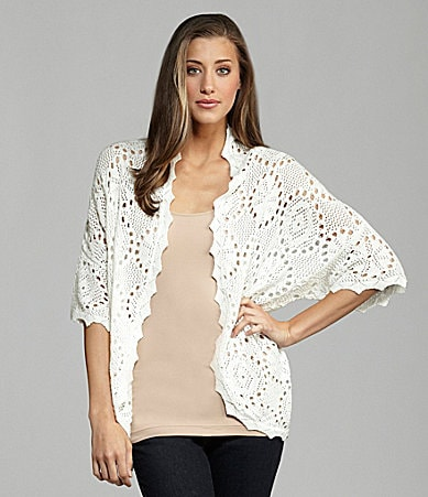 Kensie Scallop Trim Cardigan