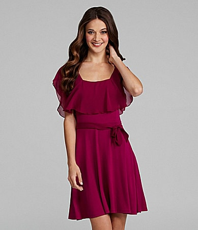 Kensie Ruffle Overlay Dress