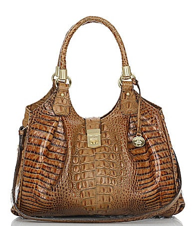 Brahmin Toasted Almond Collection Elisa Satchel
