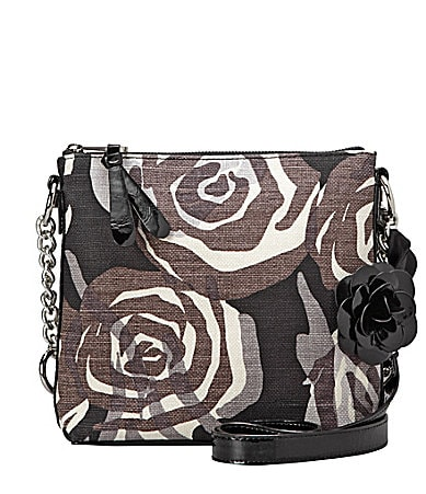 Sarah Violet Rose Print Santa Rosa Cross-Body Bag