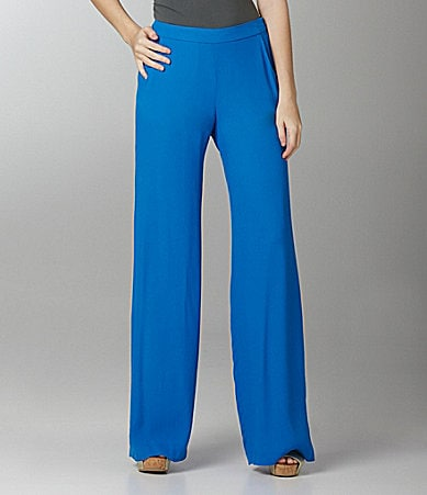 French Connection Fast Apollo Wide-Leg Crepe Pants