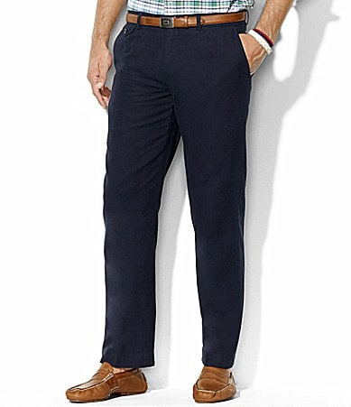 Polo Ralph Lauren Briton Cotton-Linen Flat-Front Pants