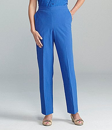 Samantha Grey Flat-Front Pants