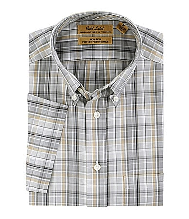 Roundtree & Yorke Gold Label Plaid Sportshirt