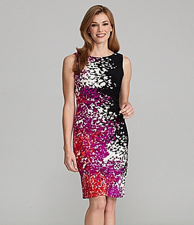 Jones New York Abstract-Print Jersey Dress