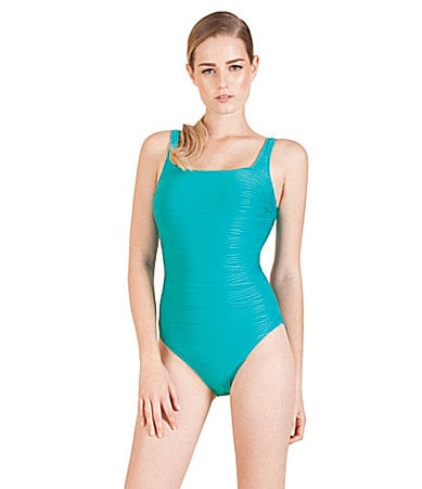 Gottex Mikado Squareneck One-Piece Swimsuit