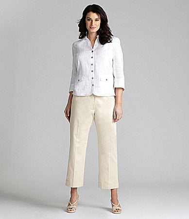 Alex Marie Woman Renee Linen Blouse & Alexa Ankle Pants