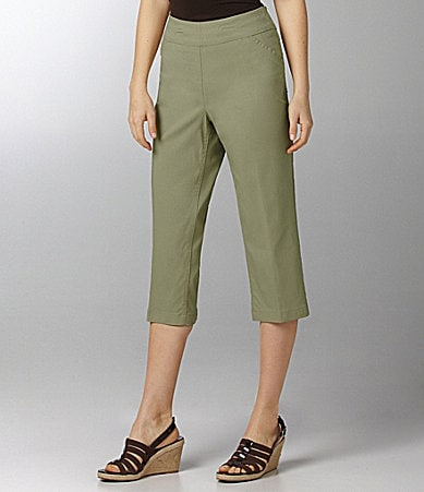 Westbound Woman PARK AVE fit SLIM FX Twill Capri Pants