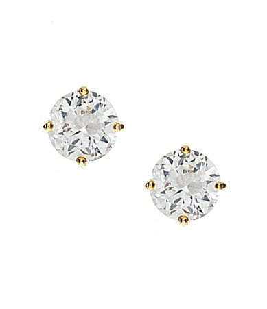 Cezanne Round Cubic Zirconia Stud Earrings