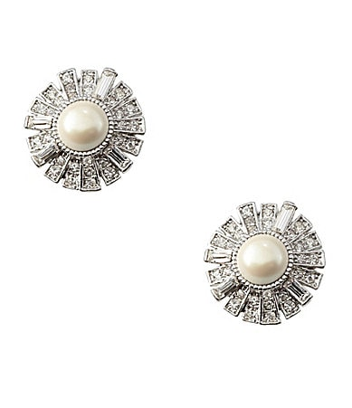 Cezanne Crystal Deco Clip Earrings