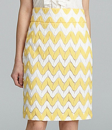 Antonio Melani Bertie Zigzag Crochet Pencil Skirt
