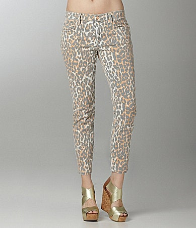 Joe�s Jeans The High Water Leopard-Print Jeans