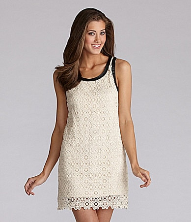 Kensie Geo Floral Lace Dress