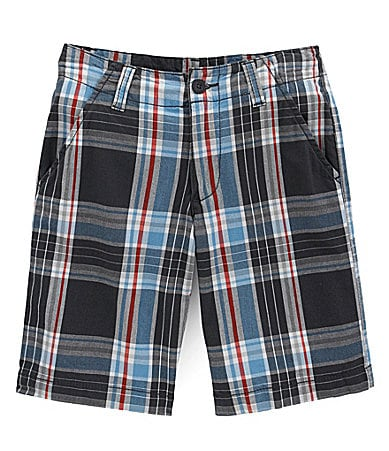Levi�s 8-18 Flat Front Plaid Shorts