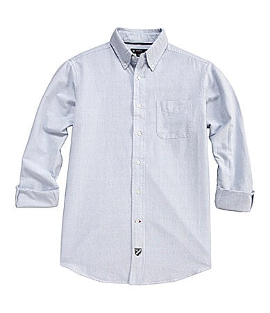 Cremieux Mini-Striped Oxford Sportshirt