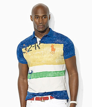 Polo Ralph Lauren Big & Tall Classic-Fit Color-Block Cotton Mesh Polo