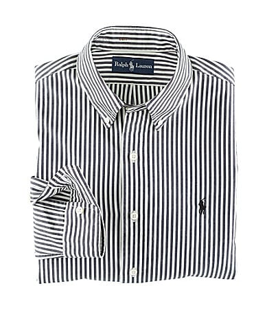 Polo Ralph Lauren Big & Tall Custom-Fit Striped Cotton Oxford Shirt