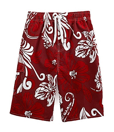 First Wave 8-20 Floral Swim Trunks