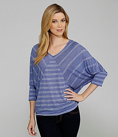 Westbound Petites Mixed Stripe Top