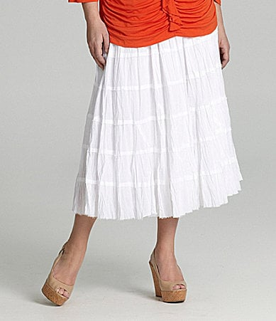 Reba Woman Crinkle Cotton Skirt