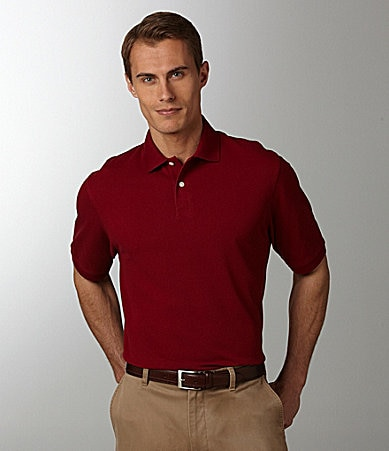 Roundtree & Yorke Gold Label Perfect Performance Solid Pique Polo Shirt
