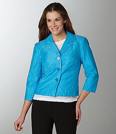 Investments Crinkle Textured Notch-Collar Jacket