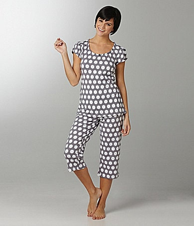 Jasmine & Ginger Dot-Print Top & Capris