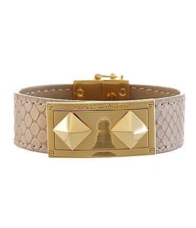 Vince Camuto Jungle Fever Natural Leather Strap Bracelet