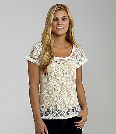Catch My i Allover Lace Top