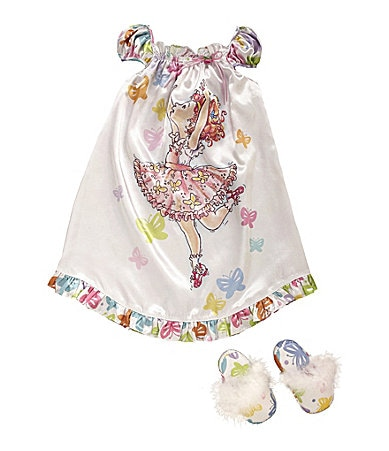 Fancy Nancy 2T-8 Gown & Slipper Sleepwear Set