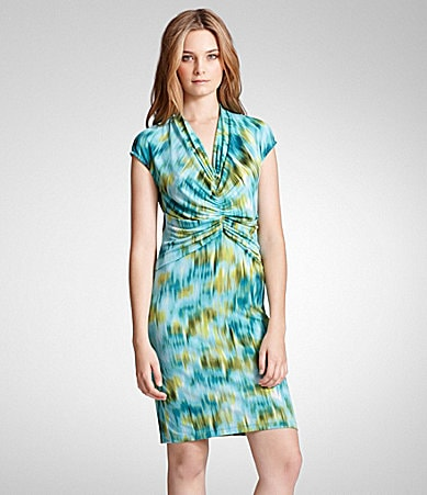 Kenneth Cole New York Watercolor Print Dress