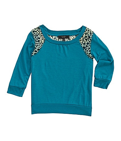 Jessica Simpson Tweenwear 7-16 Long-Sleeve Animal Print Top