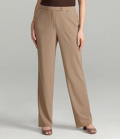 TanJay Slim Fx Comfort Stretch Straight-Leg Pants