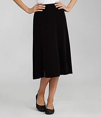 TanJay Petites Microfine Jersey Pull-On Gored Skirt