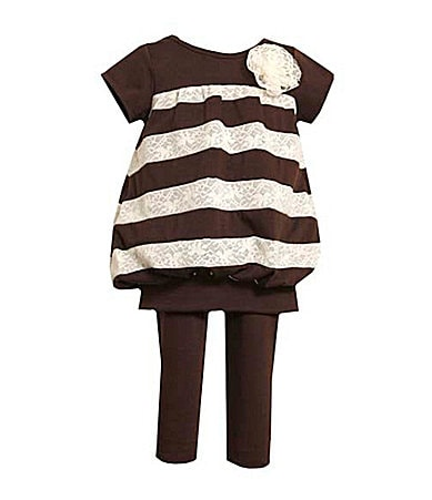 Bonnie Jean Toddler  Knit Banded Bottom Top & Leggings Set
