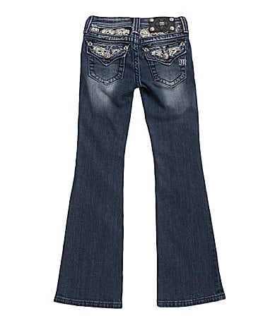 Miss Me Girls 7-16 Feathers Denim Boot-Cut Jeans