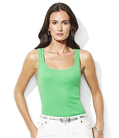 Lauren Ralph Lauren Petites Kelly Cotton Ribbed Tank