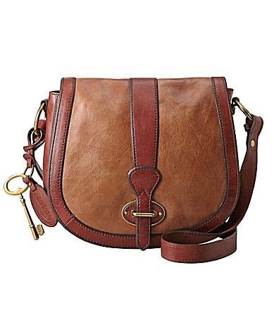 Fossil Vintage Re-Issue Multi Brown Cross-Body Bag