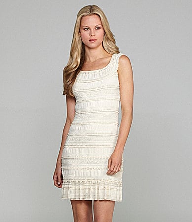 M.S.S.P. Lace Tiered Dress