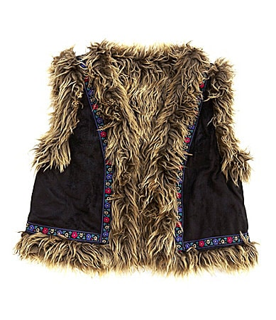 Jessica Simpson Tweenwear 7-16 Reversible Faux Fur Vest