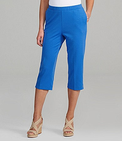 Allison Daley Petites San Remo Knit Pull-On Capri Pants
