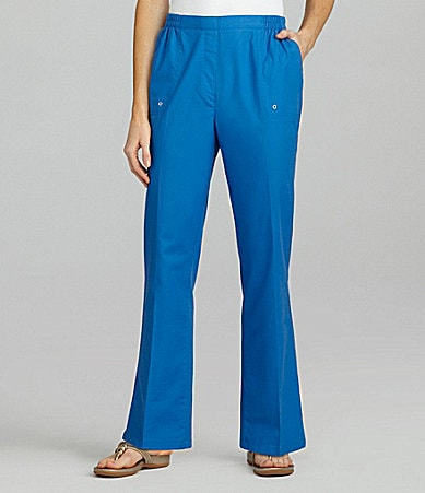 Allison Daley Petites Stretch Canvas Pull-On Pants