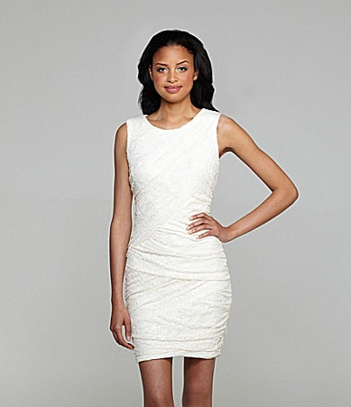 Xscape Sleeveless Lace Dress