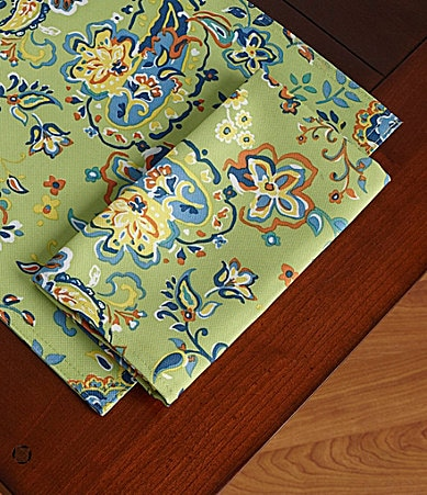 Lauren Ralph Lauren Tropical Paisley Indoor/Outdoor Table Linens