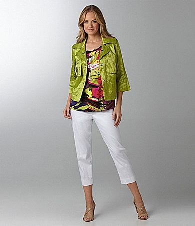 Sharon Young Shimmer Jacket, Shimmer Tank Top & Cropped Pants