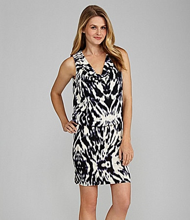 Kenneth Cole New York Zebra Print Dress